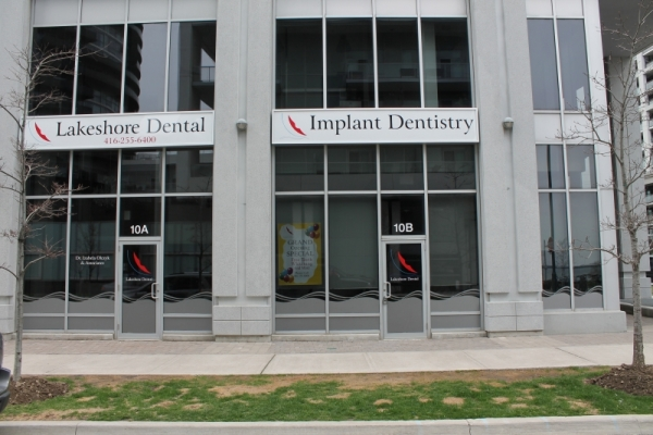 Frosted vinyl Lakeshore dental