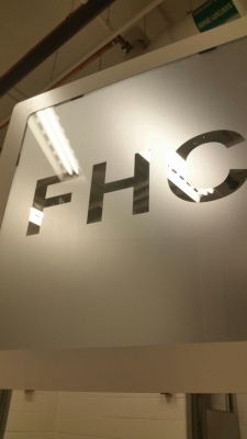Frosted vinyl for fire hose cabinet
