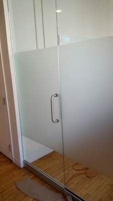Frosted vinyl on glass K