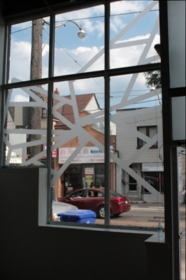 Frosted vinyl shapes Aporia
