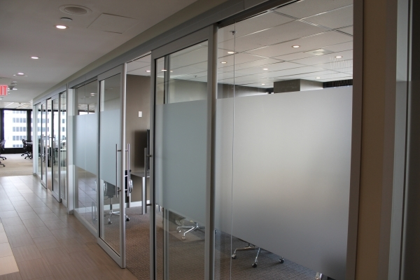 Frosted vinyl strips for windows Stagwell