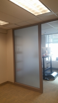 Frosted window D