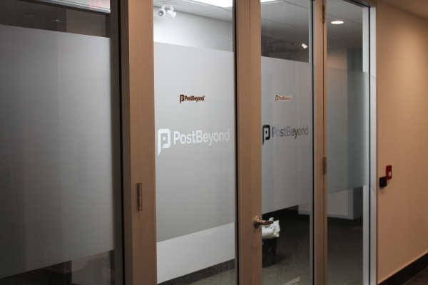 Frosted window graphics Post Beyond