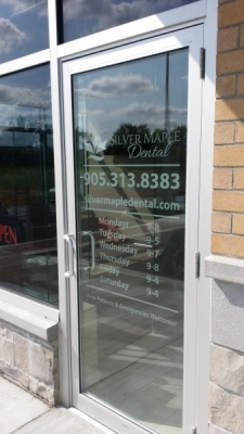 Silver maple frosted vinyl