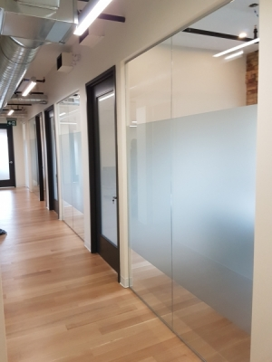 Windows custom frosting for offices